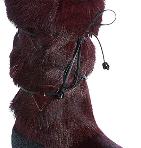 8c1e120f861 Overland Sheepskin Co Women's Anna Wool-Lined Goat Fur and Calfskin Boots