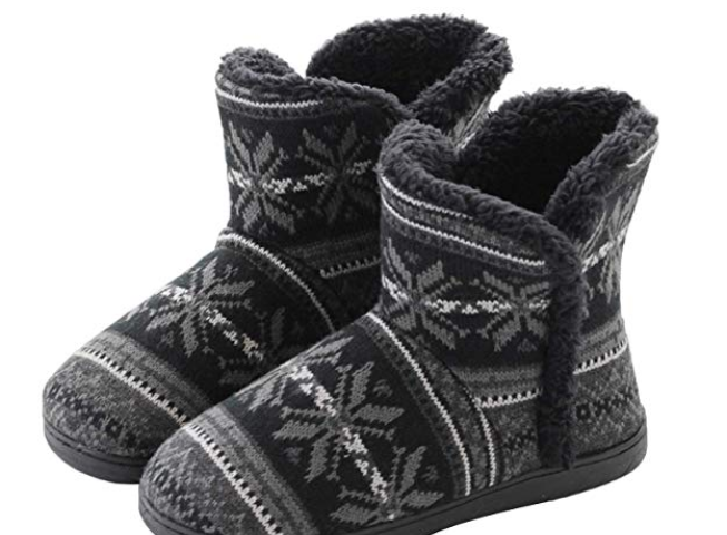 c3f524f6c5c Slipper Boots Women Men House Slippers Snow Boots Winter Warm Plush Booties  Slipper Socks Comfy Shoes Fluffy Boots Foot Warmer Non Slip Xmas Gifts